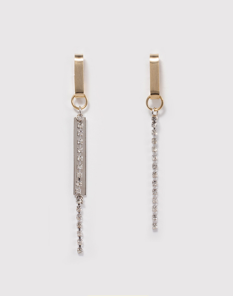 Crystal Bar Drop Earring