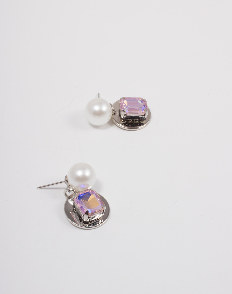 Taylor Pink Crystal Drop earring