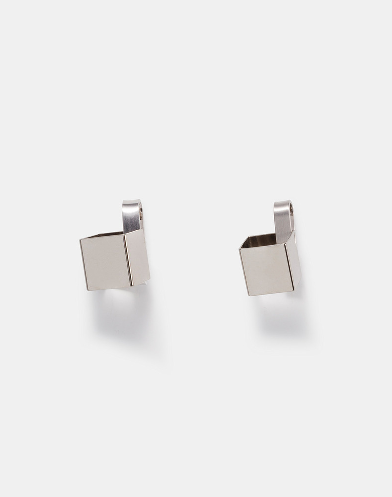 Simple box post earring