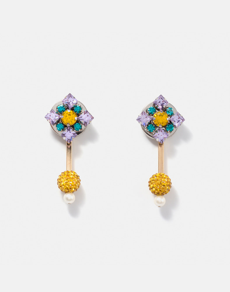 Sandra Crystal Ball Drop earring