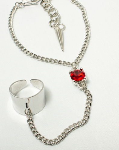 Crystal Hand Chain_Red