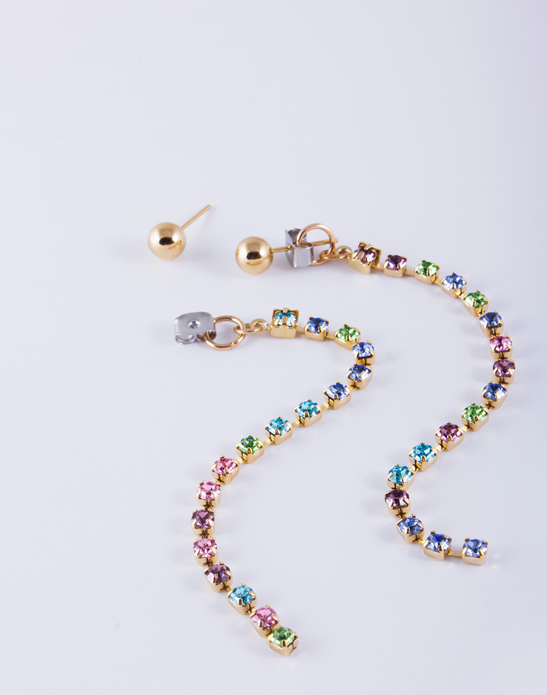 Candy crystal drop earring